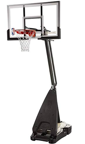 spalding acrylic portable basketball system