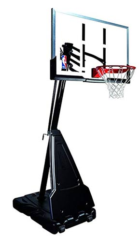 spalding 54 inch acrylic portable basketball hoop system