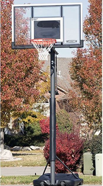 lifetime 54 inch portable basketball system
