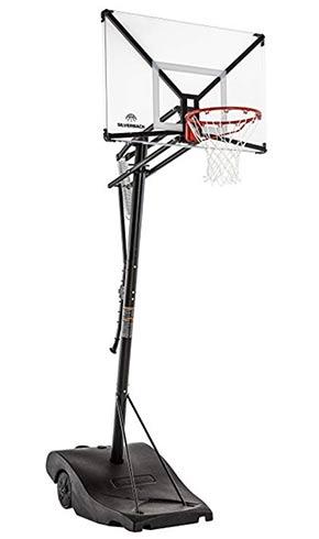 portable basketball hoop slanted driveway