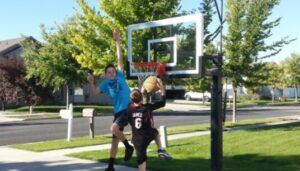 portable basketball hoop under 300