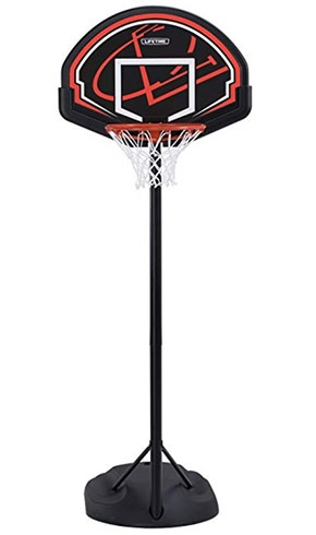 portable basketball hoop adjustable height