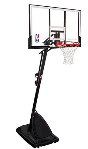 spalding 54 inch angled portable basketball system