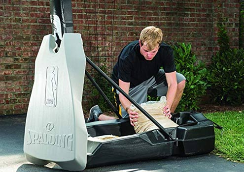 spalding 54 inch acrylic portable basketball hoop
