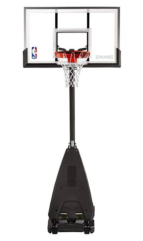 spalding 54 portable basketball system