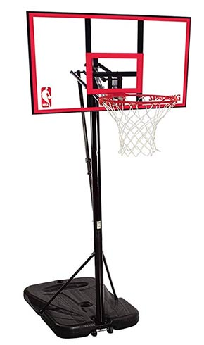 spalding nba 44 polycarbonate portable basketball hoop review