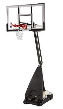 spalding nba 54 glass portable basketball hoop