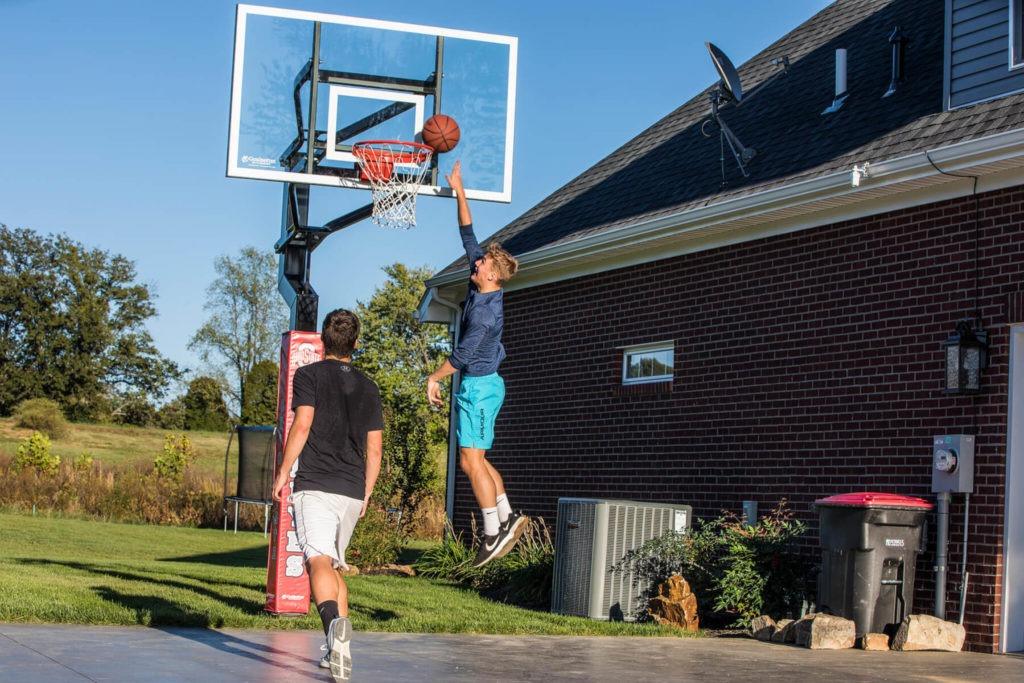 driveway basketball goal