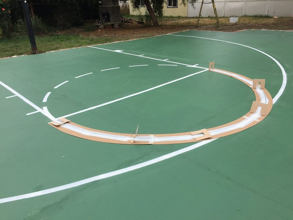 outdoor basketball court surfaces prices