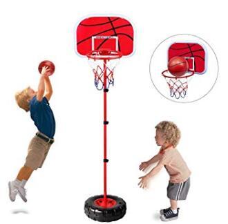 kids adjustable basketball goal