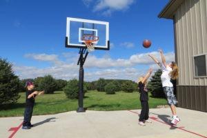 in ground basketball hoop