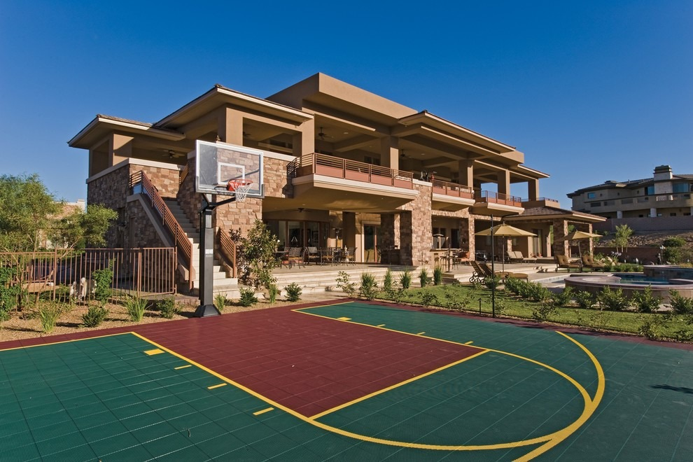 how much to install a basketball court