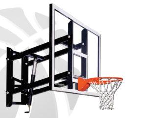 wall mounted basketball hoop around 500
