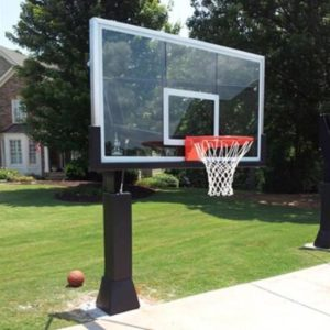 in ground glass basketball hoop