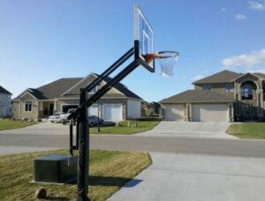 in ground basketball hoop for outdoor use