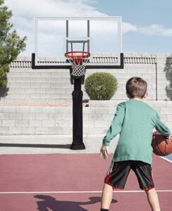 in ground basketball hoop for outdoor
