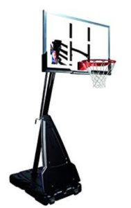angled portable basketball hoop