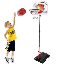 adjustable basketball hoop for kids