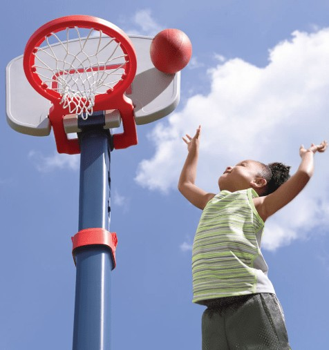 kids adjustable basketball goal