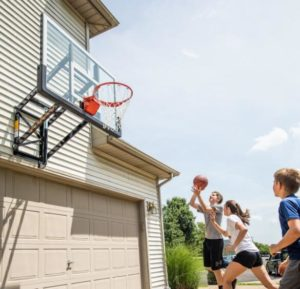 small basketball hoop for wall