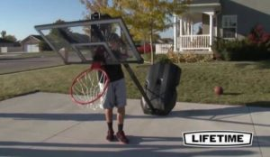 basketball hoops with wheels