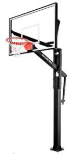 basketball goal over garage