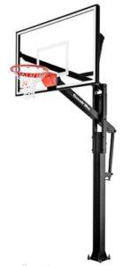 basketball goal over garage