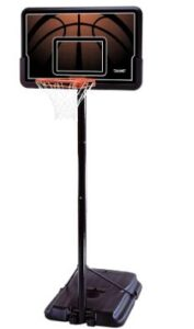 youth use portable basketball hoop