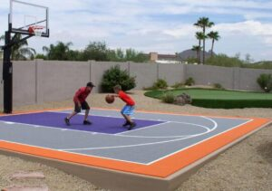 how to build backyard basketball court