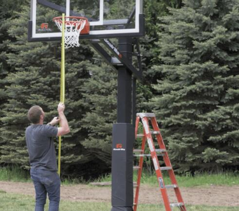 how to install inground hoop