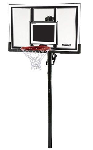 lifetime 54 inch portable basketball hoop system