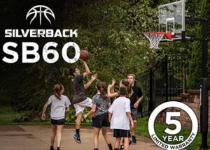 silverback 60 inch in ground basketball system