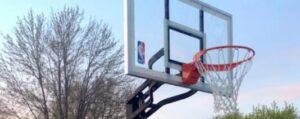installing Spalding hoop