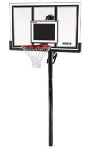adults use inground basketball hoop