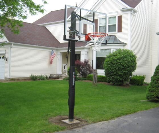 install outdoor basketball hoops