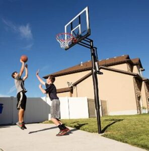 adjustbale inground basketball hoop for driveway