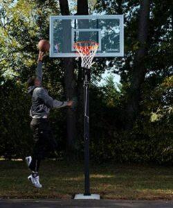 spalding 88454g 54 glass inground basketball system