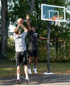 spalding 54 inch acrylic backboard in ground basketball system