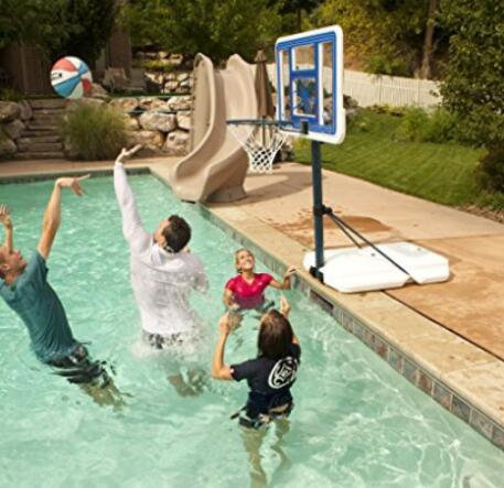 basketball hoop for poolside