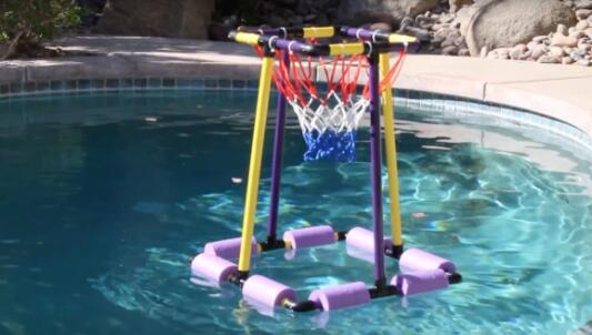 how to diy floating basketball hoops
