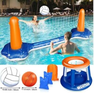 floating swimming pool basketball hoop