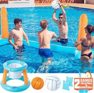 aqua hoop floating basketball game