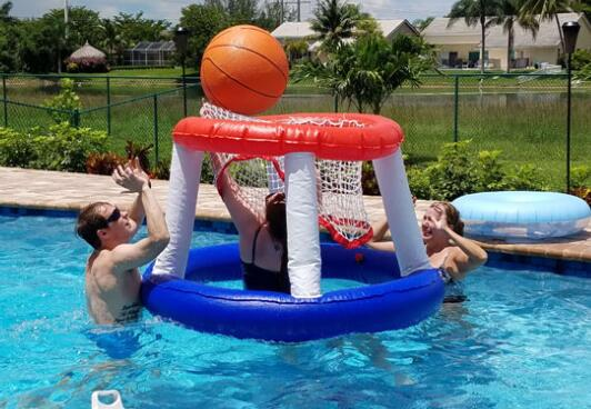 floating basketball hoops for kids and adults