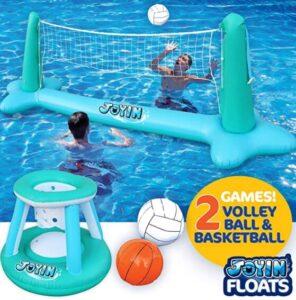 swimming pool basketball set