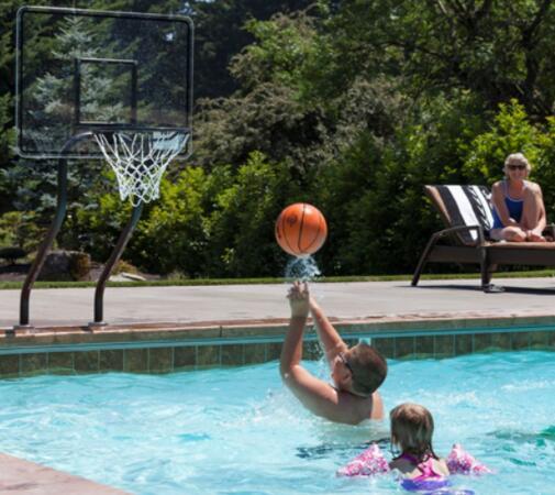 inground basketball hoop for pool