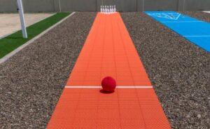 bowling court backyard court idea