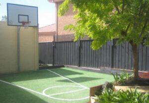 easy turf backyard court design