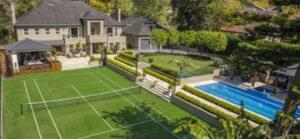 large tennis backyard court