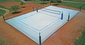 large volleyball backyard court