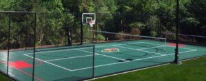 sport court for backyard